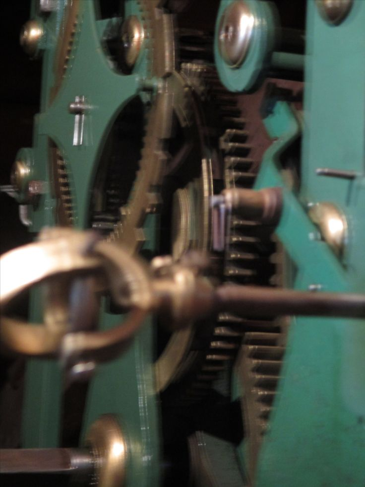 Mechanism of the clock within the Clock-Tower, Culzean Castle.