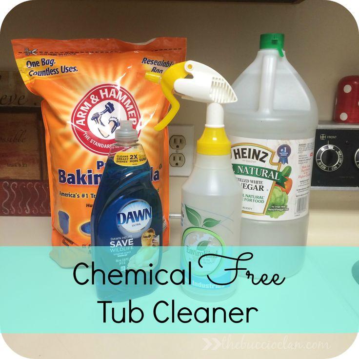 A chemical free home tub cleaner tub cleaner