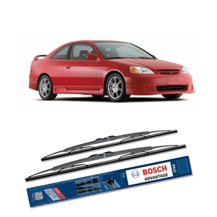 """Bosch Sepasang Wiper Kaca Mobil Honda Civic ES (2000-2005) Advantage 20"""" & 18"""" - 2 Buah/Set - Harga Wiper Murah Merk Terbaik  Umur Pakai & Daya Tahan Lebih Lama Penyapuan kaca yang senyap Performa Sapuan Optimal Instalasi Mudah & Cepat Original Produk Bosch Ukuran 20"""" dan 18""""  http://klikonderdil.com/with-frame/376-bosch-sepasang-wiper-kaca-mobil-honda-civic-es-2000-2005-advantage-20-18-2-buahset-harga-wiper-murah-merk-terbaik.html  #bosch #wiper #jualwiper #civic"""