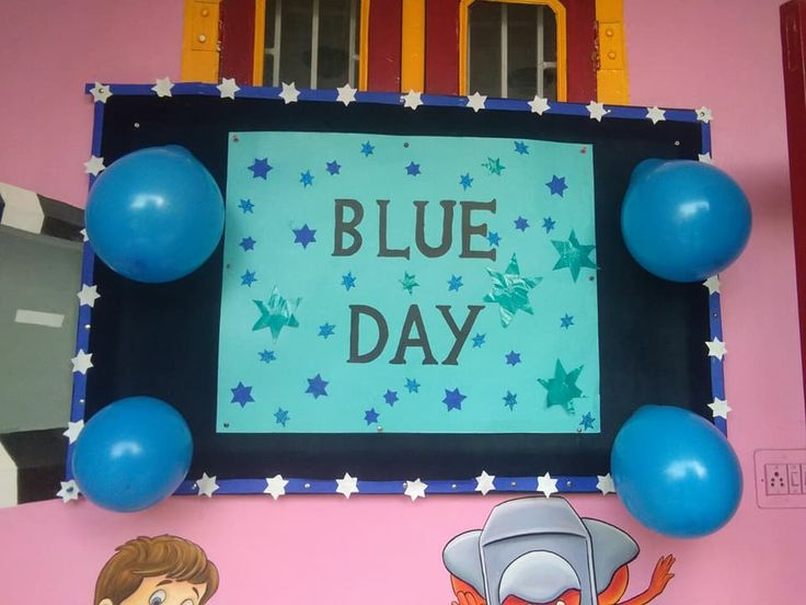 Blue Color Day Celebration By Little Stars At Kids Pride Vidhyadhar Nagar Branch, Blue Color Dress,Blue Color Activities.