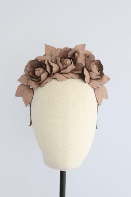Crown Floral Headband   Reny Kestel Millinery