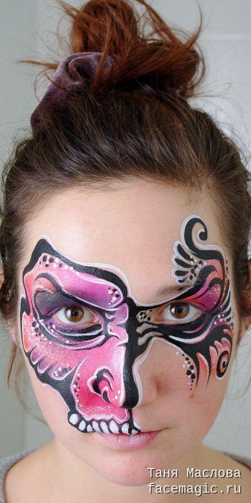 Scary mask. Face paint by Tanya Maslova.