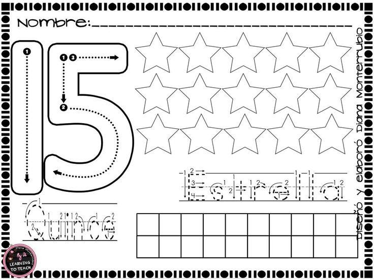 cudernillo-trabajamos-los-numeros-trazo-y-figuras-15   數量~變!變!邊!   Math activities, English vocabulary, Math