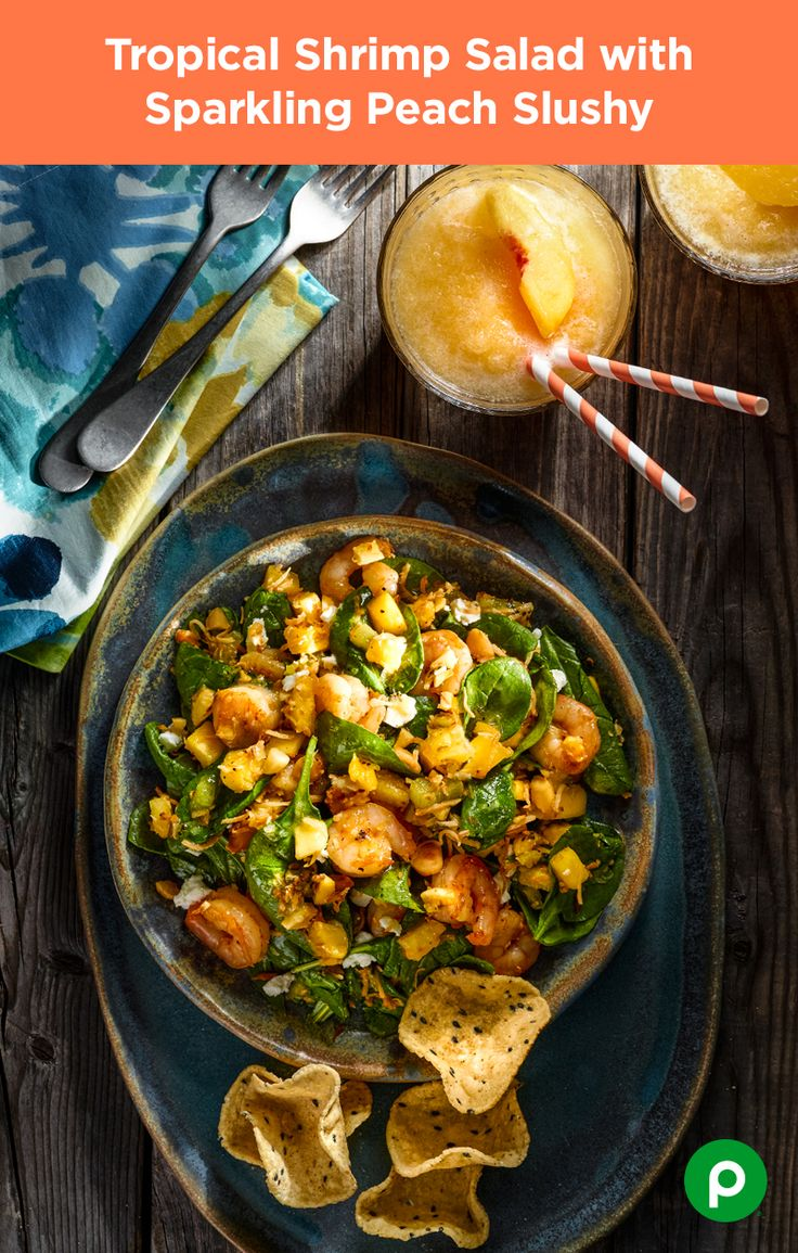 Take a 20-minute voyage to the tropics of your kitchen as fresh kiwi, pineapple, mango, macadamia nuts, and shredded coconut come together in a simple Publix Aprons recipe. When it comes to shrimp salad, go tropical or go home.