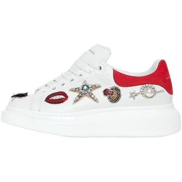 Leo Printed Leather Sneakers Spring/summer Alexander McQueen lkDkZEOPE