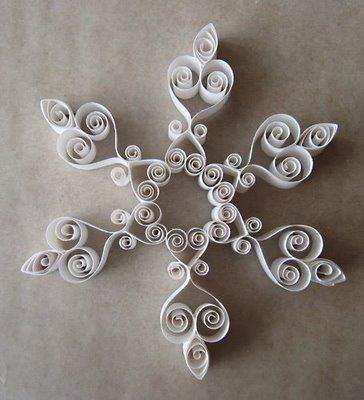 Paper Roll Snowflakes.