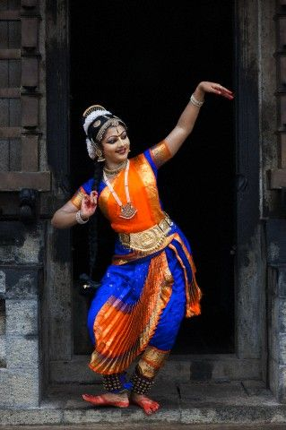 Indian Dance Bharata Natyam: Kuchupudi Dancer in Southern India
