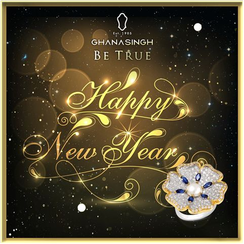 May all your hopes and dreams get fulfilled in the New Year. Ghanasingh Be True wishes you #HappyNewYear. #NewYear #FestiveJewellery