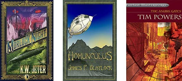 Steampunk Book Covers | The image above shows the front covers for books The Anubis Gates ...