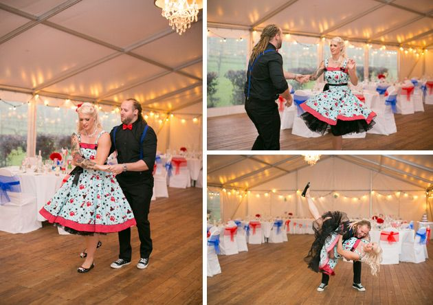 fifties style first dance as a married couple