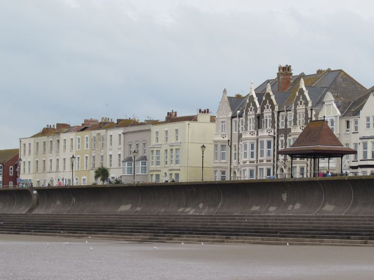Burnham On Sea Somerset England Houses Looking Across The Bristol Chanel To Wales