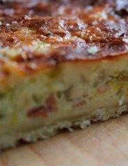 Tærte med porrer og bacon
