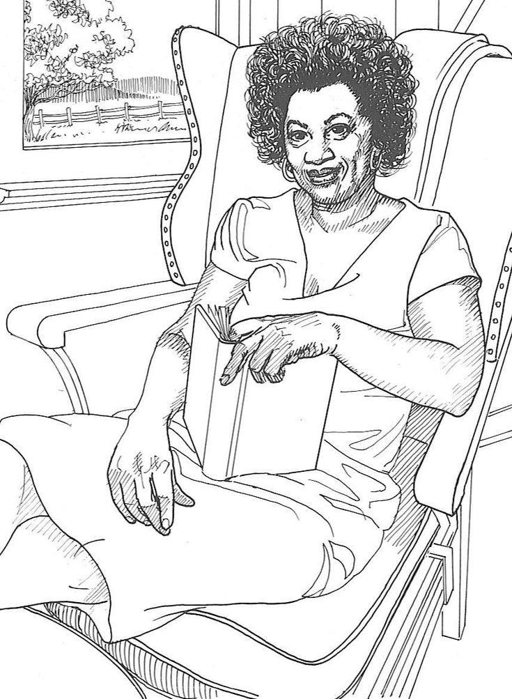 famous black women of color black history coloring pages morrison