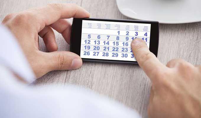 Calendrier des vacances pour l'An 2017