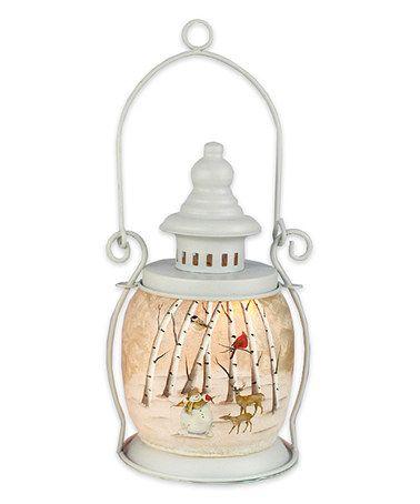Loving this Winter Nature Lantern on #zulily! #zulilyfinds