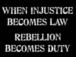 civil disobedience, non-violent protest
