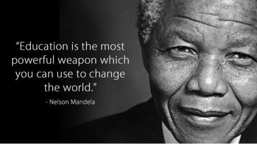 Education quote Nelson-Mandela onderwijs Education is the most powerfull weapon which you can use to change the world'