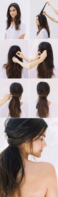 #DIY Half Up Half Down #Wedding #Hair - this with some boho braids tucked in…