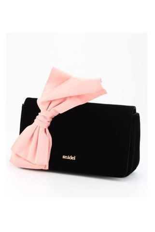 Snidel Satin Ribbon Clutch Bag