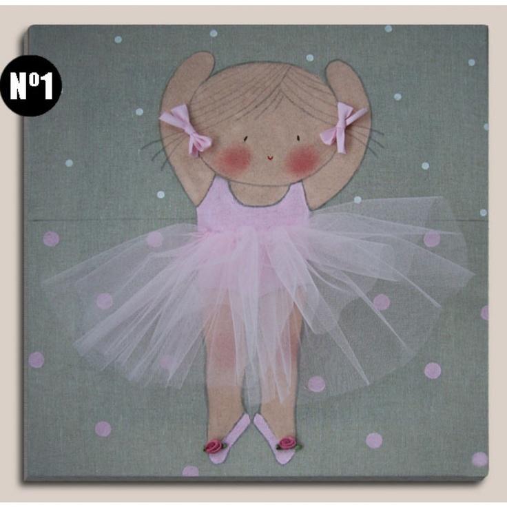 Cuadros infantiles bailarina rosa 1000 1000 - Cuadros bailarinas infantiles ...