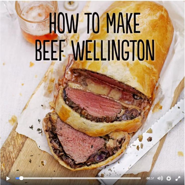 Jamie Oliver's How to make beef wellington from his Facebook Page