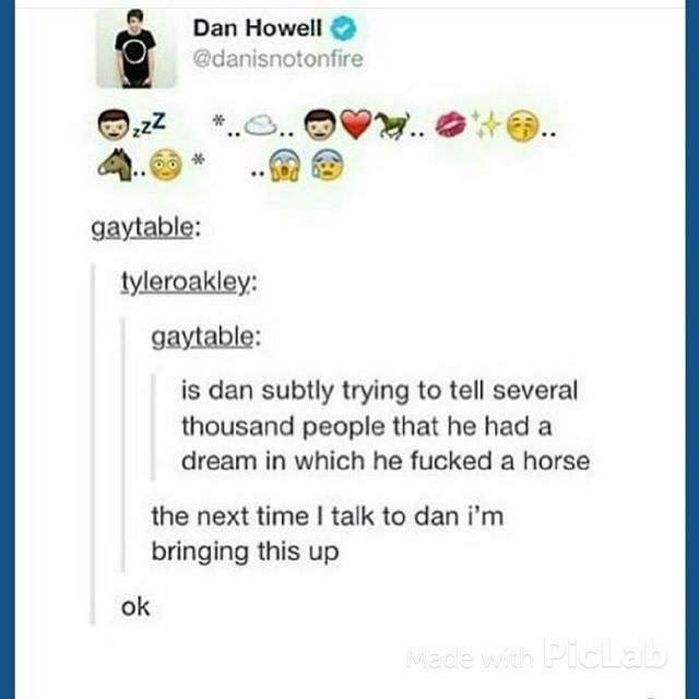 """Oh my God Dan hahaha x) (but is the horse a metaphor for Phil? I mean Philip means """"lover of horses"""" after all...) <--- Pinning for this comment X'D"""