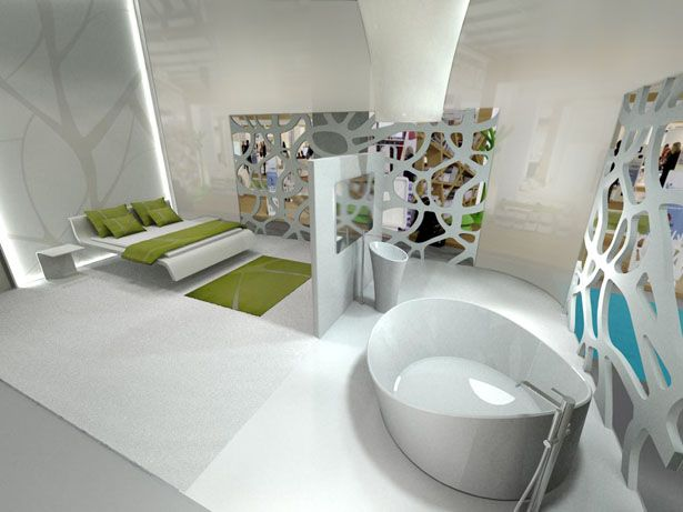 Future Hotel White By Well Tech Hospitality Design Future Design Future Technology