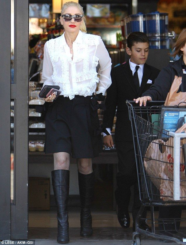 Running errands: Gwen Stefani, 47, prepped for the coming week with a grocery run in Los A...