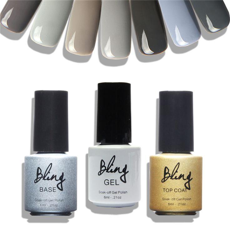 Bling Cinza Série UV Verniz para As Unhas 12 Cores Gel Polonês unhas de Gel Lâmpada UV Polonês Necessário Beleza Do Prego Para O Prego arte