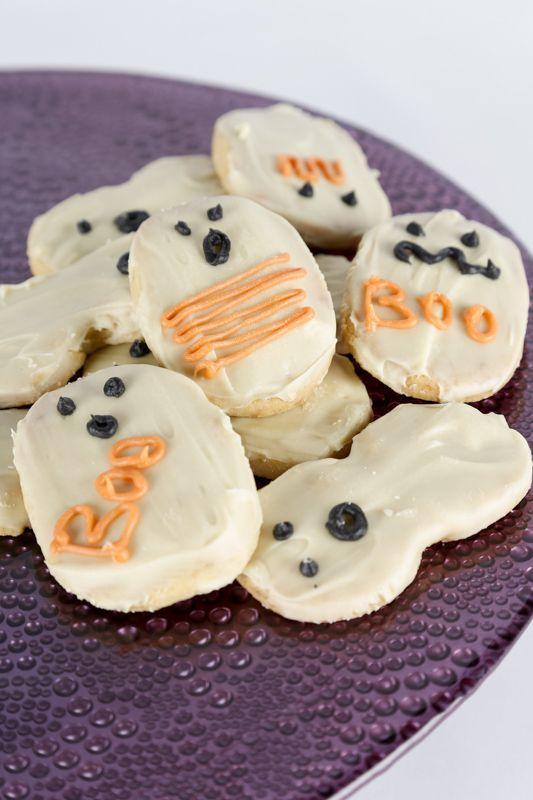 ¡Boo, un fantasma! No, solamente son unas fantasmagóricas galletas.