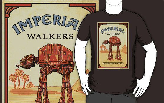 Star Wars Imperial Walker Turns Camel T-Shirt