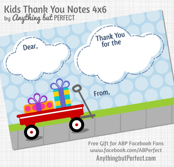 PERFECT Thank You card from UR kid to UR Teacher! :)