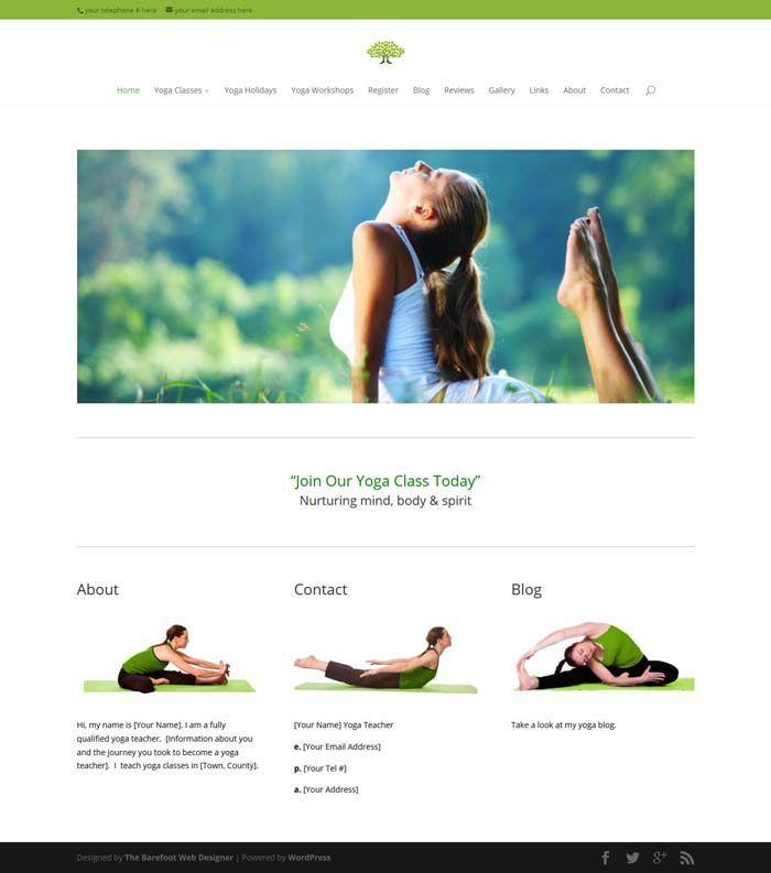 13 best Yoga WordPress Templates images on Pinterest | Role models ...