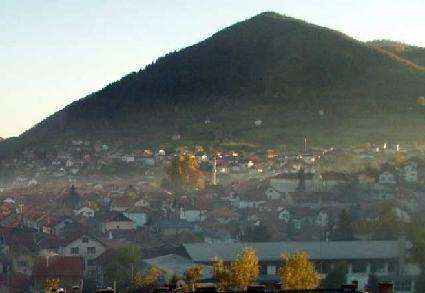 Bosnian Pyramid of the Sun - above town of Visoko
