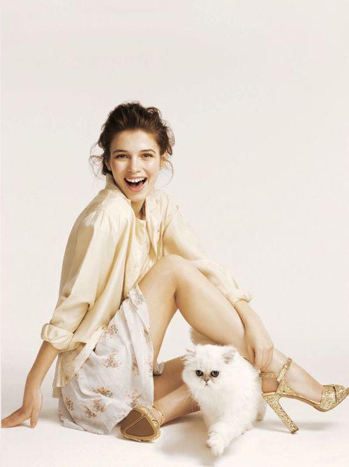 : Fashion Whitestyle, Cat, Editorial, Iulia Carstea, Parties, Glamour Uk, 2012, Kitty