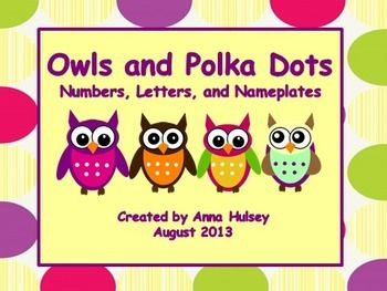 "This is an editable packet with an owl and rainbow stripe theme. Download includes labels, numbers, alphabet letters, and nameplates. It is a zipped file with an editable PowerPoint file (please be sure you have the latest version of Microsoft Office)Download Includes:pg. 2-6 Blank labelspg. 7 ""Grade, Copy, File"" labels (for Sterilite 3-Drawer)pg. 8-13 Nameplates (2 versions)pg. 14-30 Circular Numbers (0-100) pg. 31-35 Circular Letters (A-Z) Horizontal Stripepg. 36-40 Circular Letters (A-Z)…"