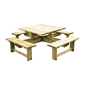 Grenen picknicktafel vierkant karwei