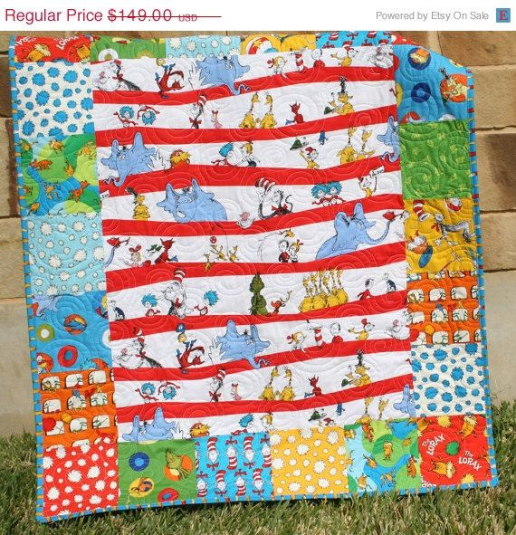 Hat  Bedding  or in max Dr  Youth     Neutral Cat   Kids Child sales Quilts and Seuss  Boy Gender the Grinch   Quilt  Seuss The Dr Boy Baby Nursery Girl  air Baby Lorax  Bright