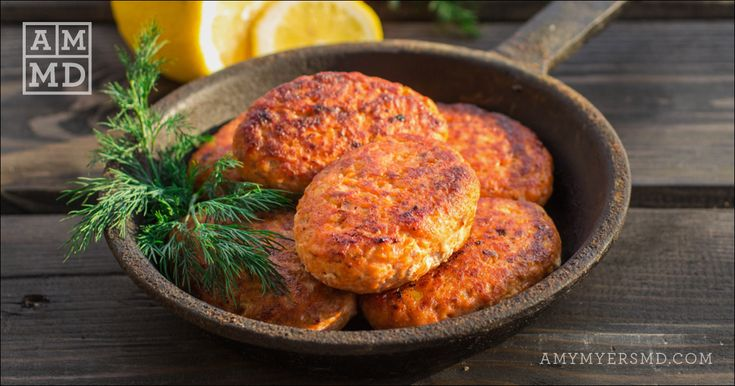 crispy wildcaught salmon cakes  amy myers md  recipe in