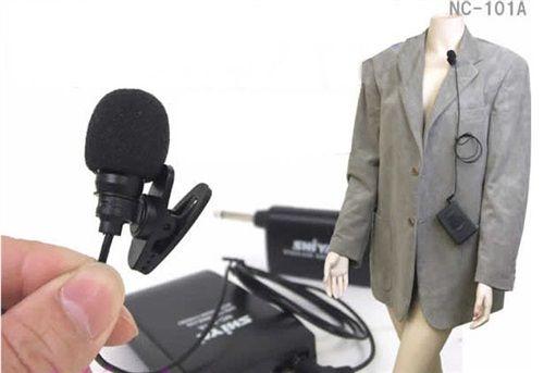 Microfono de Solapa, Petaca y Receptor