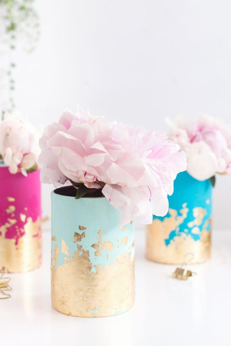 DIY: Blattgold-Vasen aus FIMO in Pastellfarben – Cordy K.
