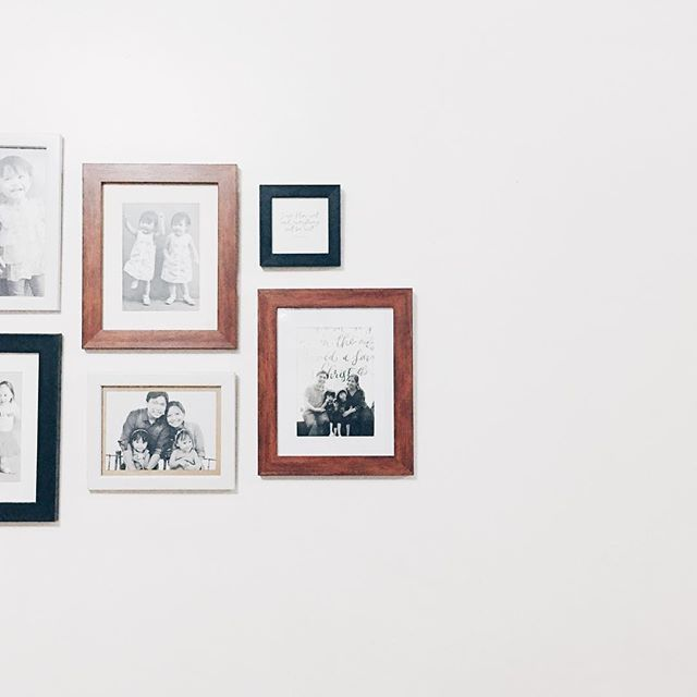 Extending the photo wall, realizing that we really should have more photos printed and framed instead of just keeping them in our phones.