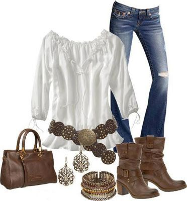 Western.. Love this outfit..minus the boots and wear my real boots instead!!!
