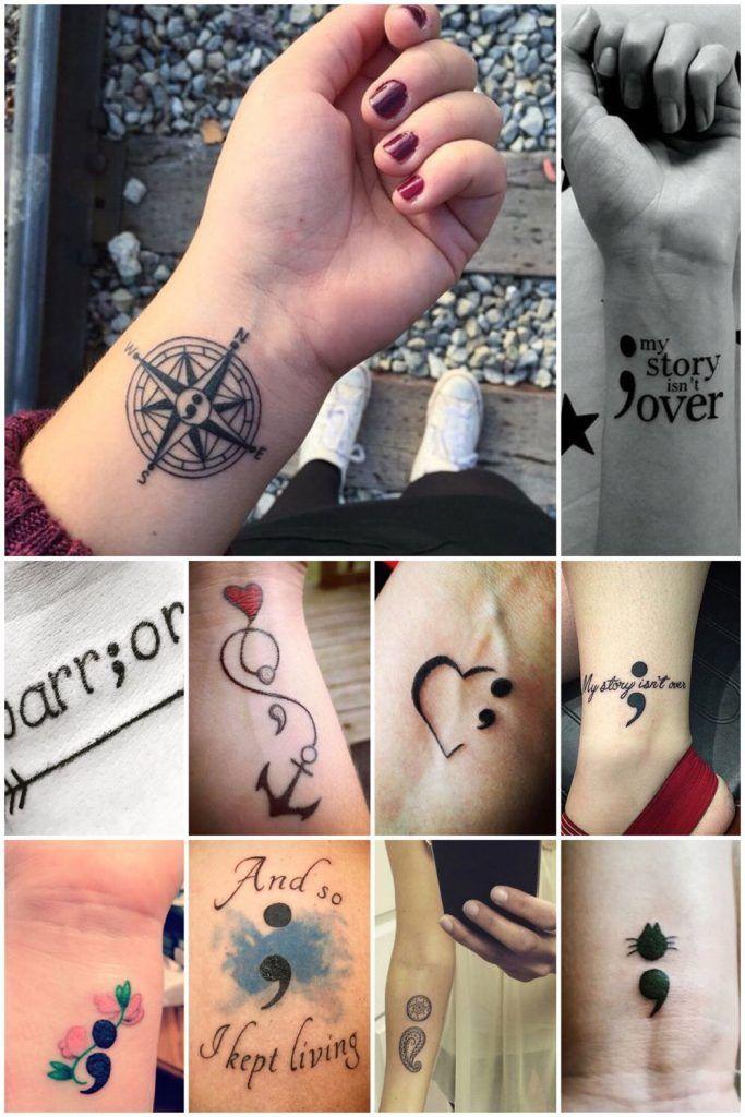 De betekenis van de puntkomma tattoo