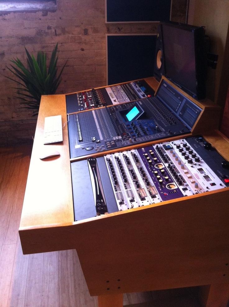 A Custom Handcrafted Recording Studio Workstation For Yamaha 02r96 Digital Audio Board Www