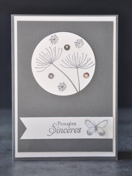 Carte de condoléances par Marie Meyer Stampin up - http://ateliers-scrapbooking.fr/ Plus