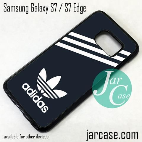 Black Adidas Custom Phone Case for Samsung Galaxy S7 & S7 Edge