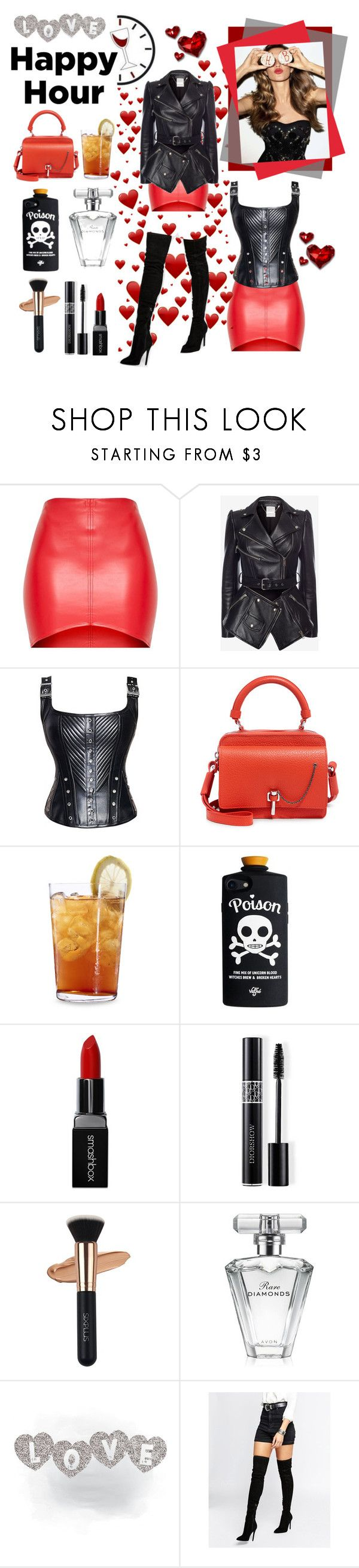"""""""Lovely red"""" by belen-cool-look on Polyvore featuring moda, Alexander McQueen, Carven, Schott Zwiesel, Smashbox, Christian Dior, Avon y Kendall + Kylie"""