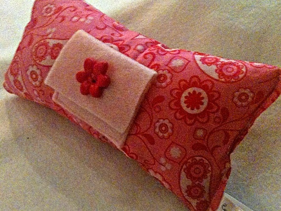 Paisley Tooth Fairy Pillow with Light Pink by CozyMouseCreations
