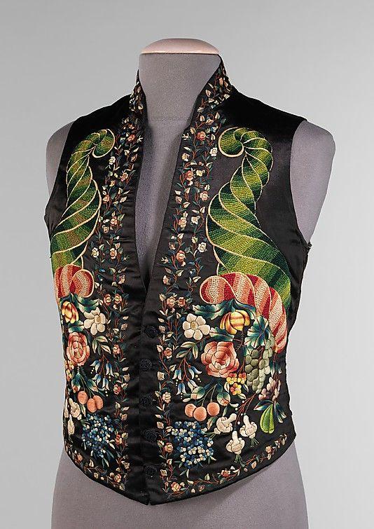 Waistcoat, silk, British, 1845 to 59. Met